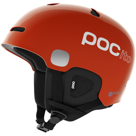 POC POCito Auric Cut Spin Helmet Barn fluorescent orange